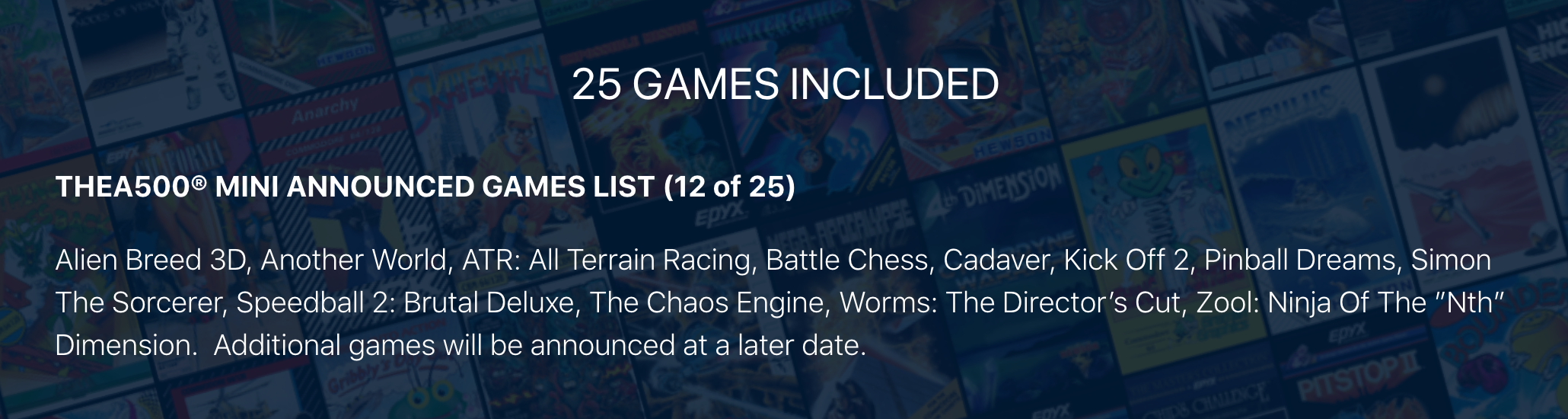 Games are included