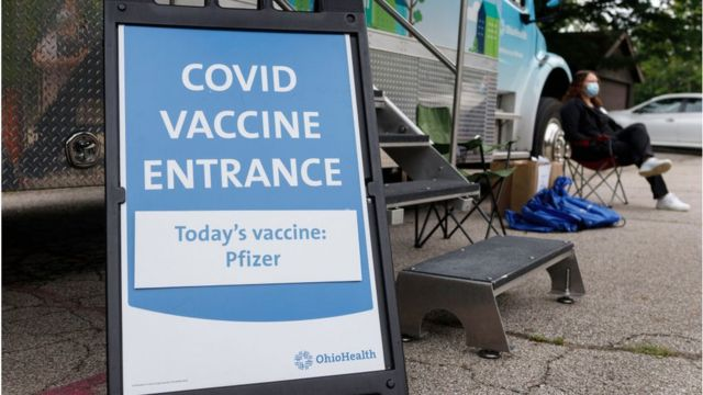 Identification for a vaccination center in Ohio
