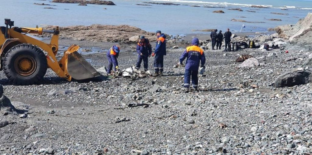 A helicopter carrying 16 people has crashed in the Far East of Russia