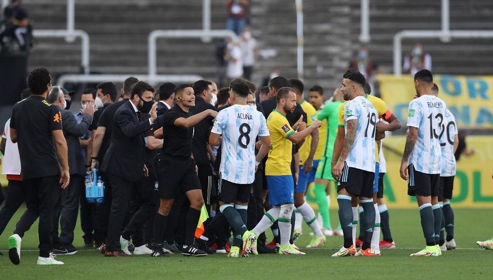 Brazil vs Argentina match suspended