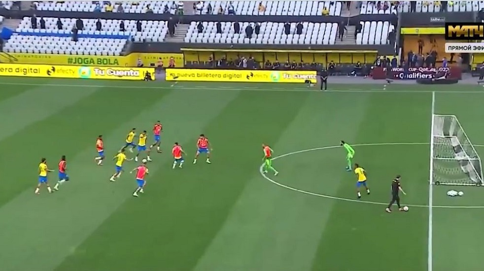 Look .. The Brazilian players continue to play despite the departure of the Argentine national team