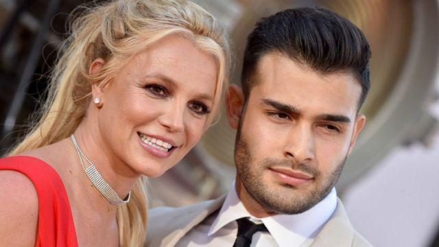Britney Spears with boyfriend Sam Askari