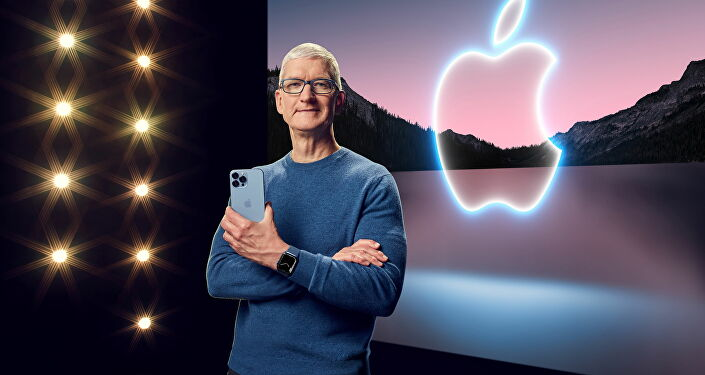 Apple CEO Tim Cook unveiled the new iPhone 13 Pro Max on September 14, 2021 at Apple Park in Cupertino, California.
