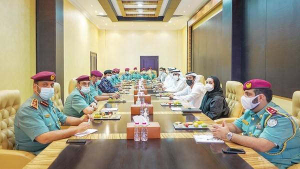 Al Shamsi receives a security delegation from the expo