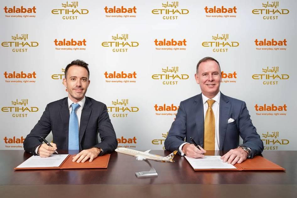 Cooperation between Etihad Airways and Talabat to explore new initiatives