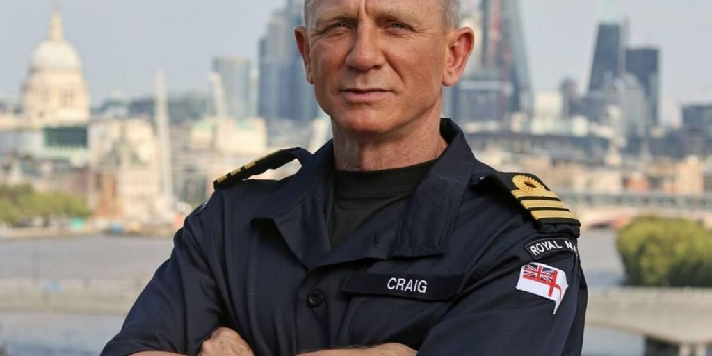 Officially ... Daniel Craig and James Bond hold the same rank in the British Royal Navy