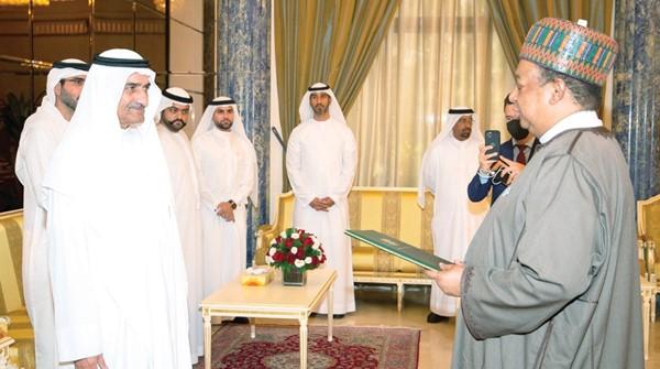 Ruler Fujairah receives Nigerian oil minister and OPEC secretary general