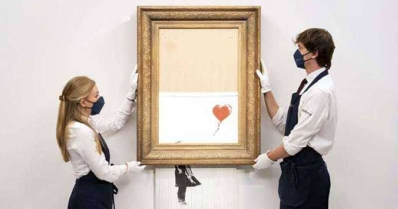 The bank's self-destructive painting goes on sale again in October
