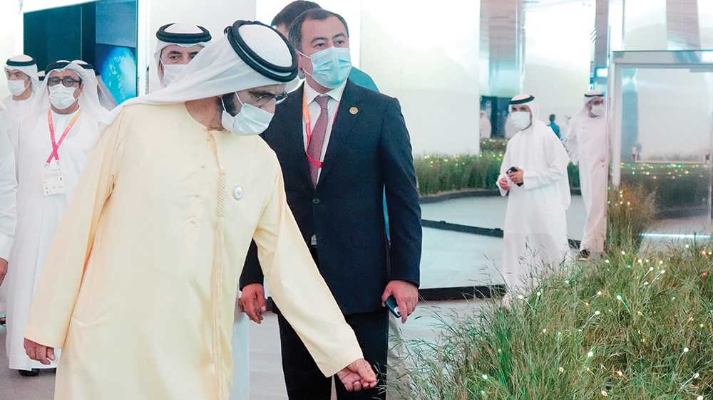 Mohammed bin Rashid during the tour