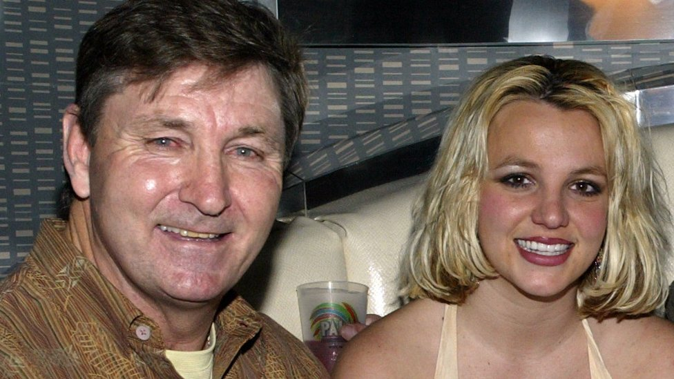 Britney Spears and her father Jamie in 2006