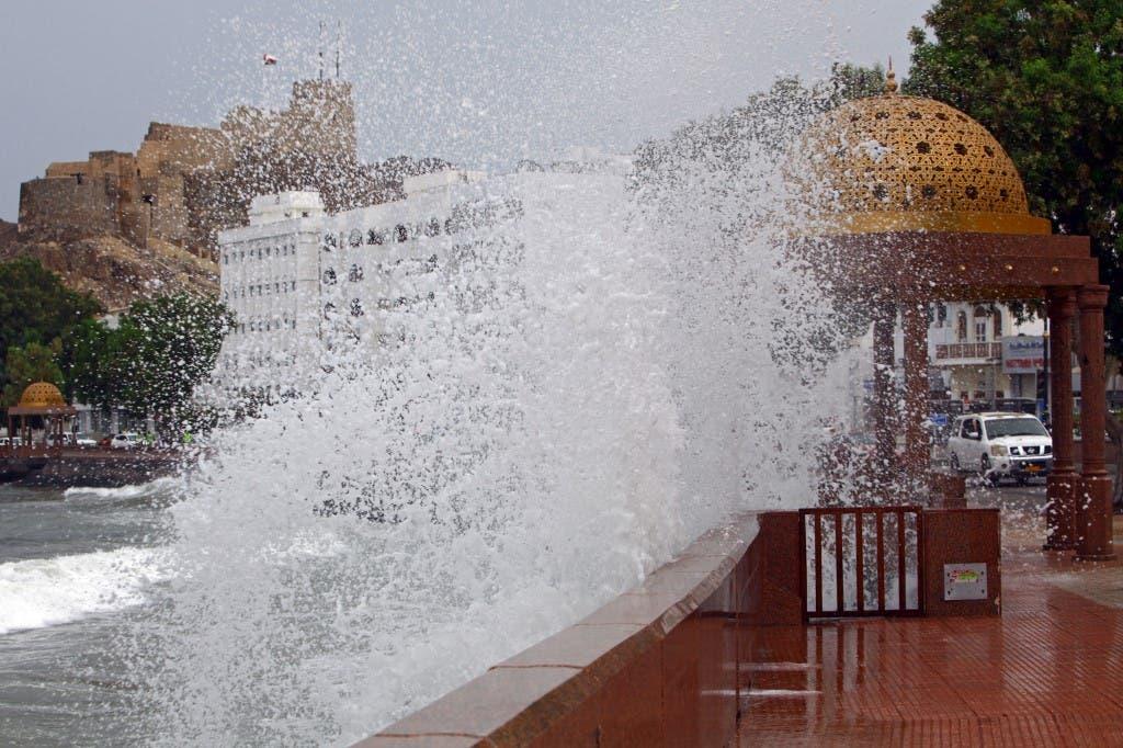Ocean waves rise in Muscat