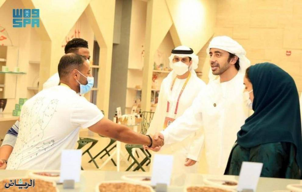 Abdullah bin Saeed visits the Saudi Pavilion at Expo 2020