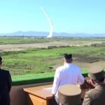 North Korea fired an unidentified missile into the Sea of Japan