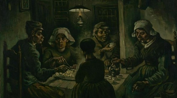 """""""Potato Eaters"""" ... a controversial masterpiece at the Van Gogh Museum in Amsterdam"""