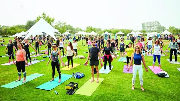 """Yoga and Meditation .. """"In Um Al Emarat Park"""" for mental health"""